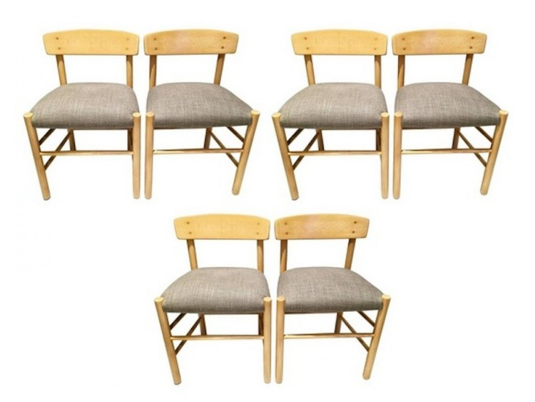 Set of six Borge Mogensen Chairs