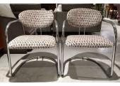 Pair of Tubular Steel Chairs
