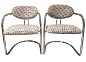 Pair of Tubular Steel Chairs