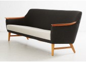 Long Black and White Sofa