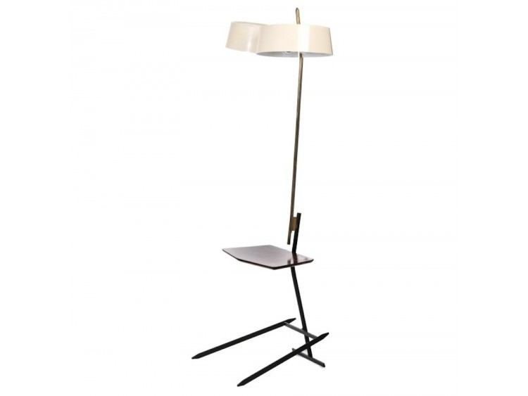 Floor Lamp with Magazine Shelf