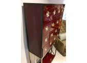 Burgundy Cabinet with Drawers