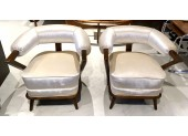 Pair of White Tub Chairs