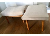 Pair of White Tabourets