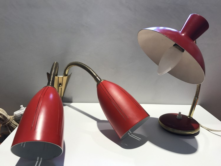 Set of Table and Wall Lamps