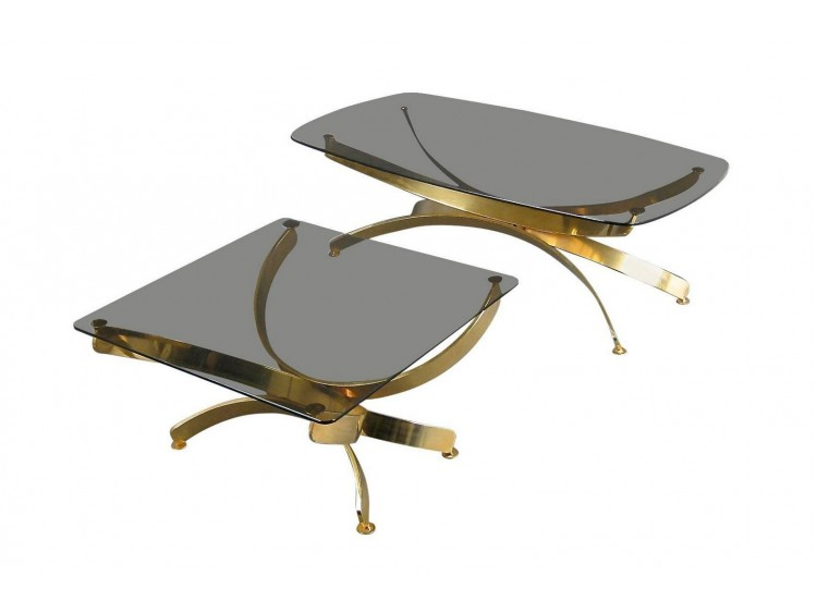 Pair of Tables in the style of Maria Pergay