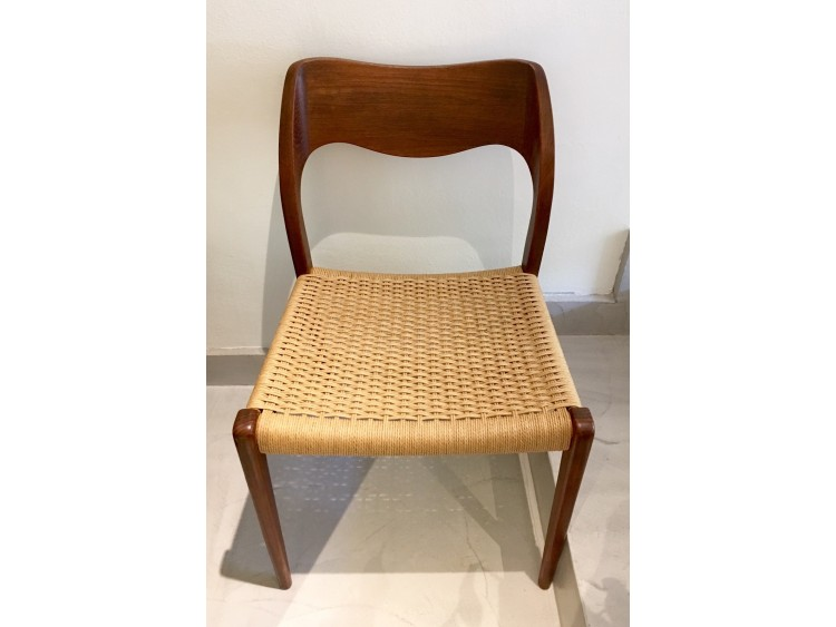 Six Teak N. Moller Chairs