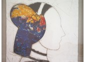Etching and Collage ¨Perfil IV¨ by Manolo Valdes, 2006,
