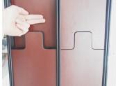 Modular Coat Rack and Mirror by Luciano Bertoncini