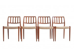 Set of Four Model 83 Niels Otto Møller Chairs