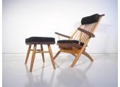 Tateishi Shoiji Easy Chair and Stool