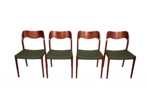 Four Niels O. Møller Chairs