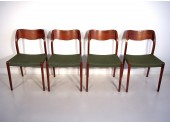 Four Niels O. Møller Chairs