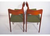 Cuatro sillas por Niels O. Møller