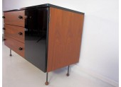 Walnut and Black Laminate Grossman Dresser
