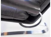 Mid-Century Black Leather Armchair