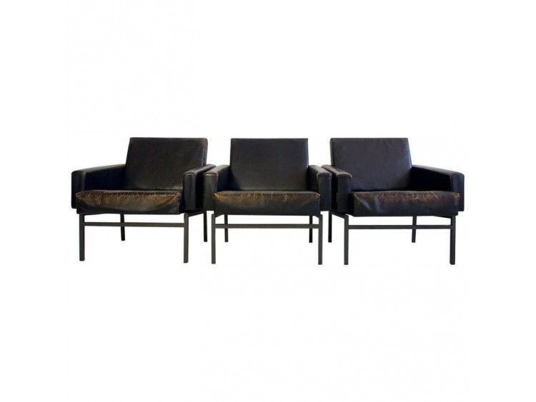 """Set of Armchairs """"Airport Style"""" by F.W.Moller"""