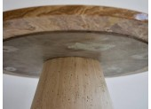 Mushroom Style Agate Stone Side Table