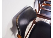 Black Leather Chairs, Model 62 A by A.Vodder