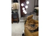 Italian Brass Floor Lamp with Six Lights