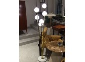Italian Brass Floor Lamp with Six Lights