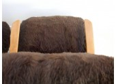 Pair of Brown Sheepskin Armchairs