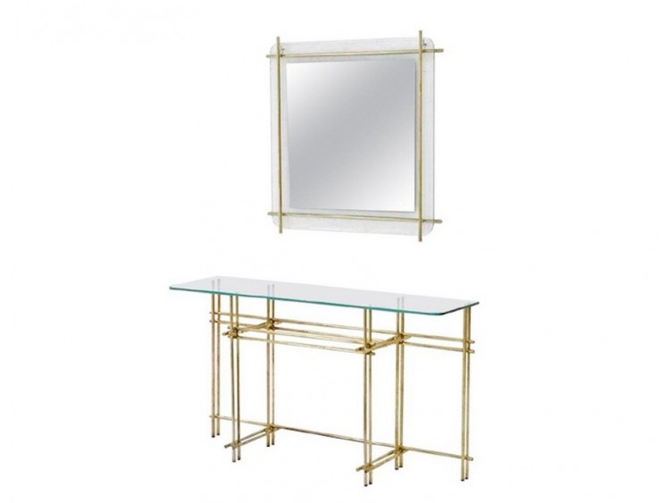 Console Table with Wall Mirror
