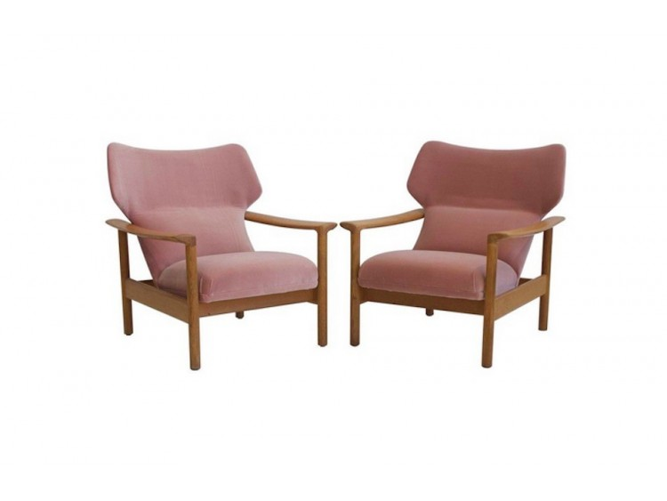 Pair of Pink Armchairs