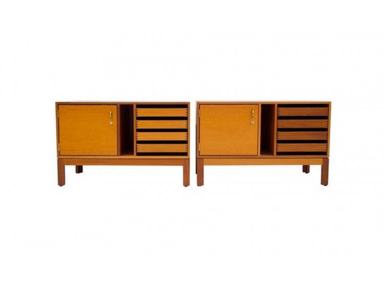 Pair of Mahogany File Cabinets