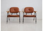Par de sillones de cuero