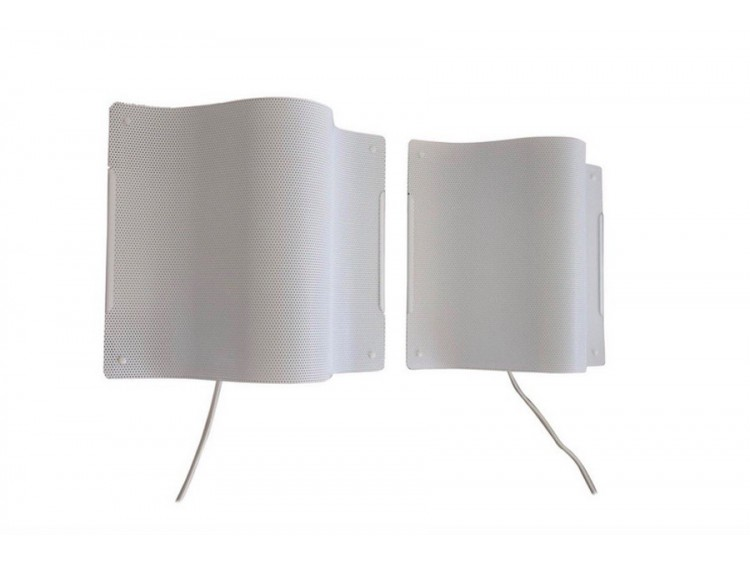 Pair of Perforated Metal Wall Lamps