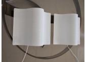 Pair of Perforated Metal Wall Lamps