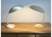 Par de lámparas de mesa beige