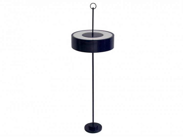 Blue Lacquered Metal Floor Lamp