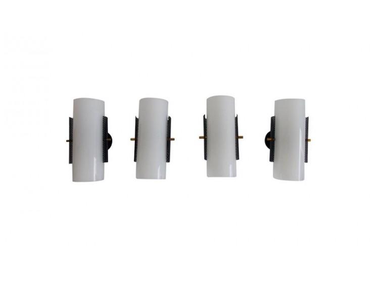 Set of Four Plexiglass Wall Lamps