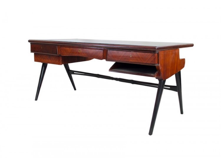 Lacquered Wood Writing Desk