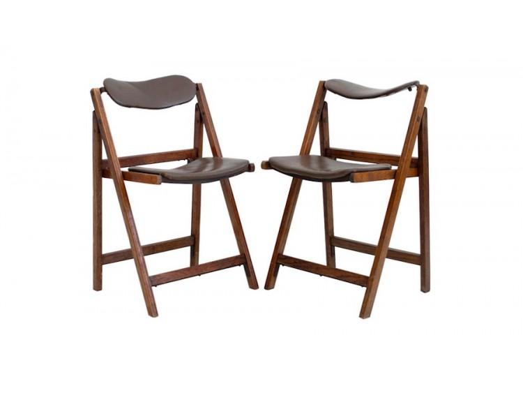 Par de sillas plegables