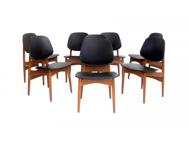 Set de ocho sillas de comedor