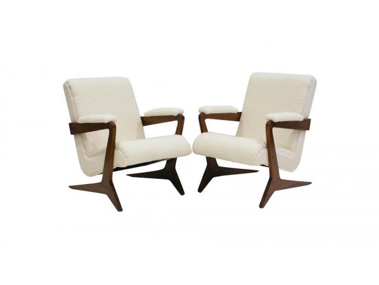 Pair of Brazilian Lounge Chairs