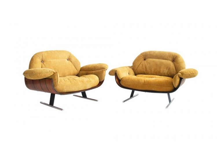 Pair of Presidential Lounge Chairs