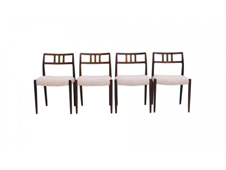 Set of Four J.L. Møllers Chairs