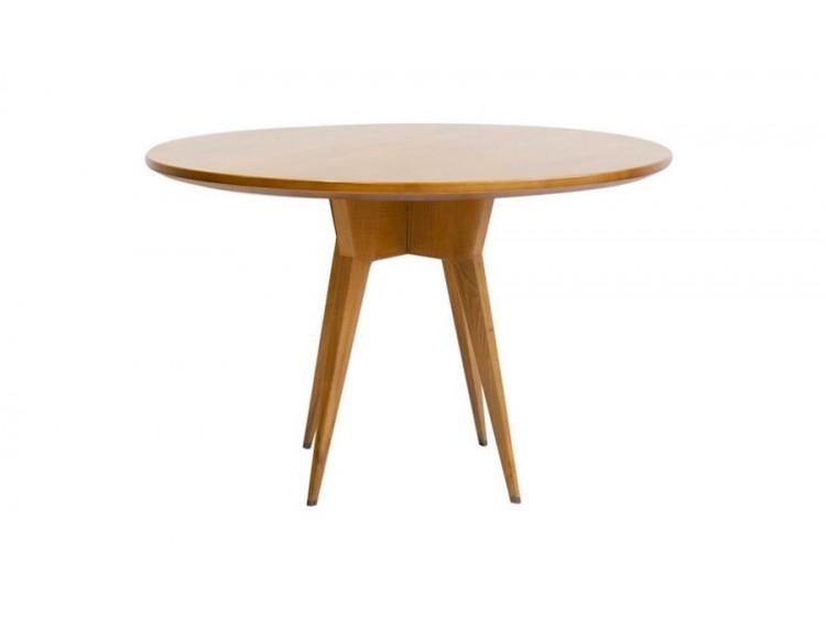 Mesa redonda de madera de fresno